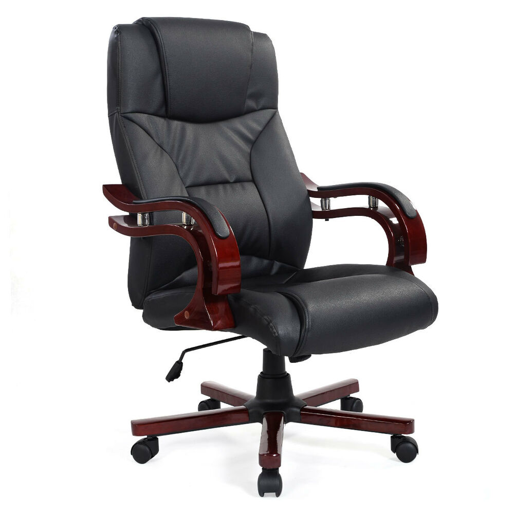 high back ergonomic desk task office chair executive computer black