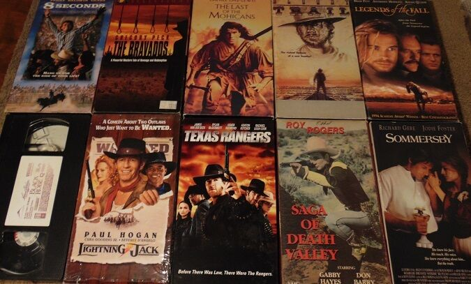 lot of 10 western vhs tapes last of the mohicans the