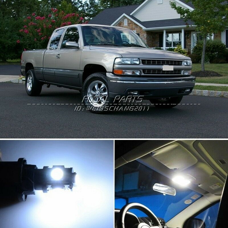 12 X Xenon White Led Lights Interior Package Kit For Chevy Silverado 99 06 K114 Ebay