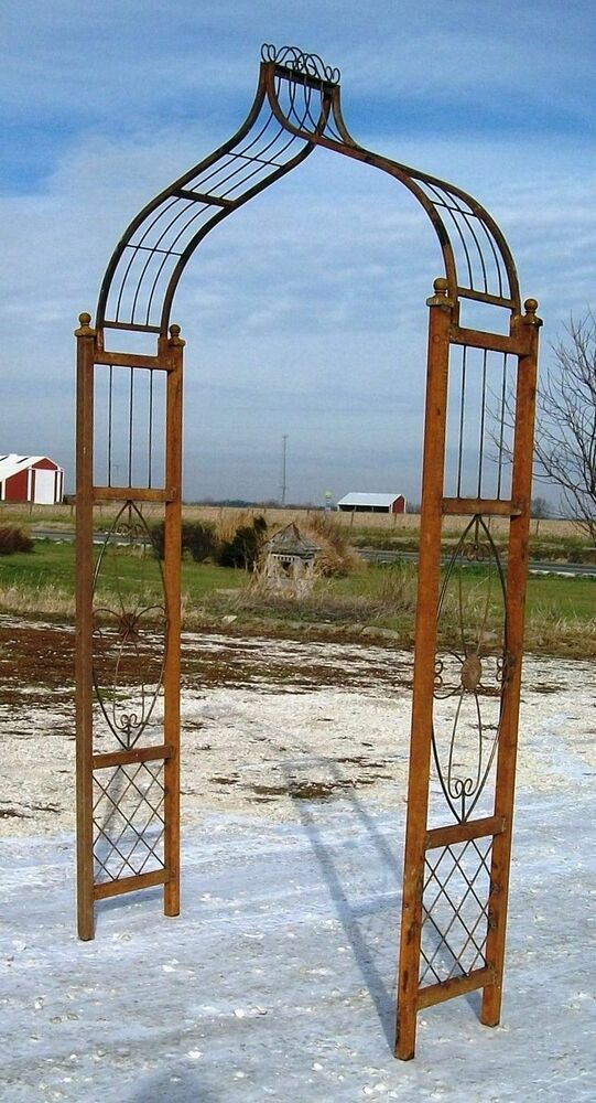 Metal medallion flower arbor yard art cheap shipping