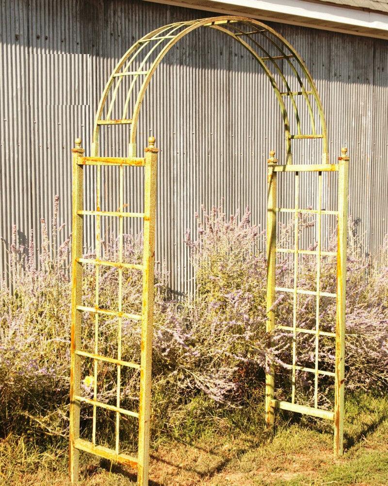 Metal Accent Backyard Flower Arch Wrought Iron Dome