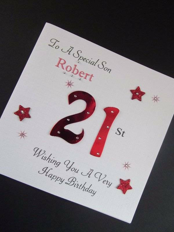 18th Birthday Cards Male ~ Handmade personalised male birthday card son dad th st any ag ebay
