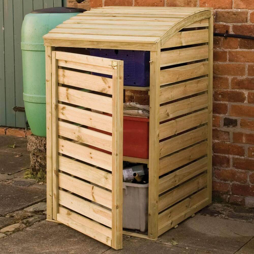 wooden garden recycling box storage pressure treated