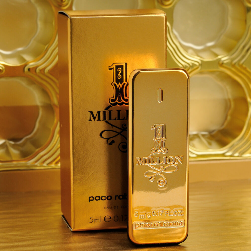 paco rabanne 1 million eau de toilette 5ml mini men. Black Bedroom Furniture Sets. Home Design Ideas
