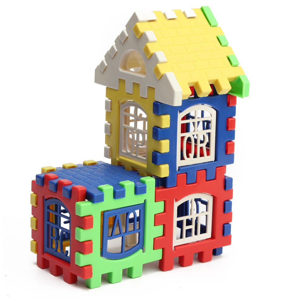 Building Construction Toys : Pcs children kids bricks house building blocks
