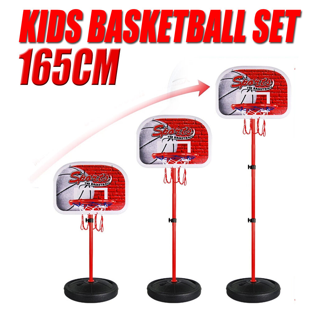80 165cm verstellbar kinder basketballkorb st nder basketball korb spiel set neu ebay. Black Bedroom Furniture Sets. Home Design Ideas