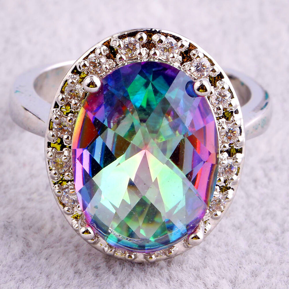 Fashion Oval Rainbow & White Topaz Multicolor Gemstone. Third Eye Rings. Celebrity Dress Rings. Super Small Wedding Rings. Rugged Men Wedding Rings. Woman Price Rings. Dupe Engagement Rings. Uni Wedding Rings. Straight Wedding Band Wedding Rings