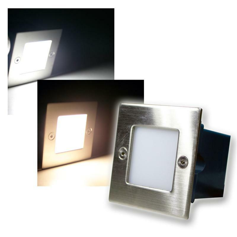 Wall Recessed Light Fittings : LED Wall / Floor recessed light, stainless steel square, stage step levels lamp eBay