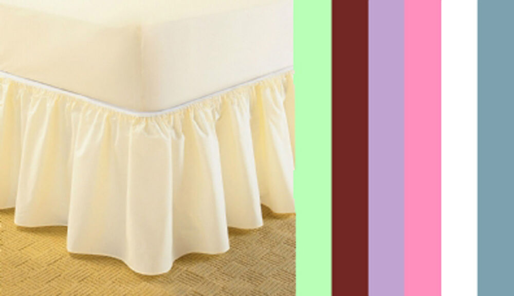 Universal Bed Valance Elasticated Easy Fit One Size