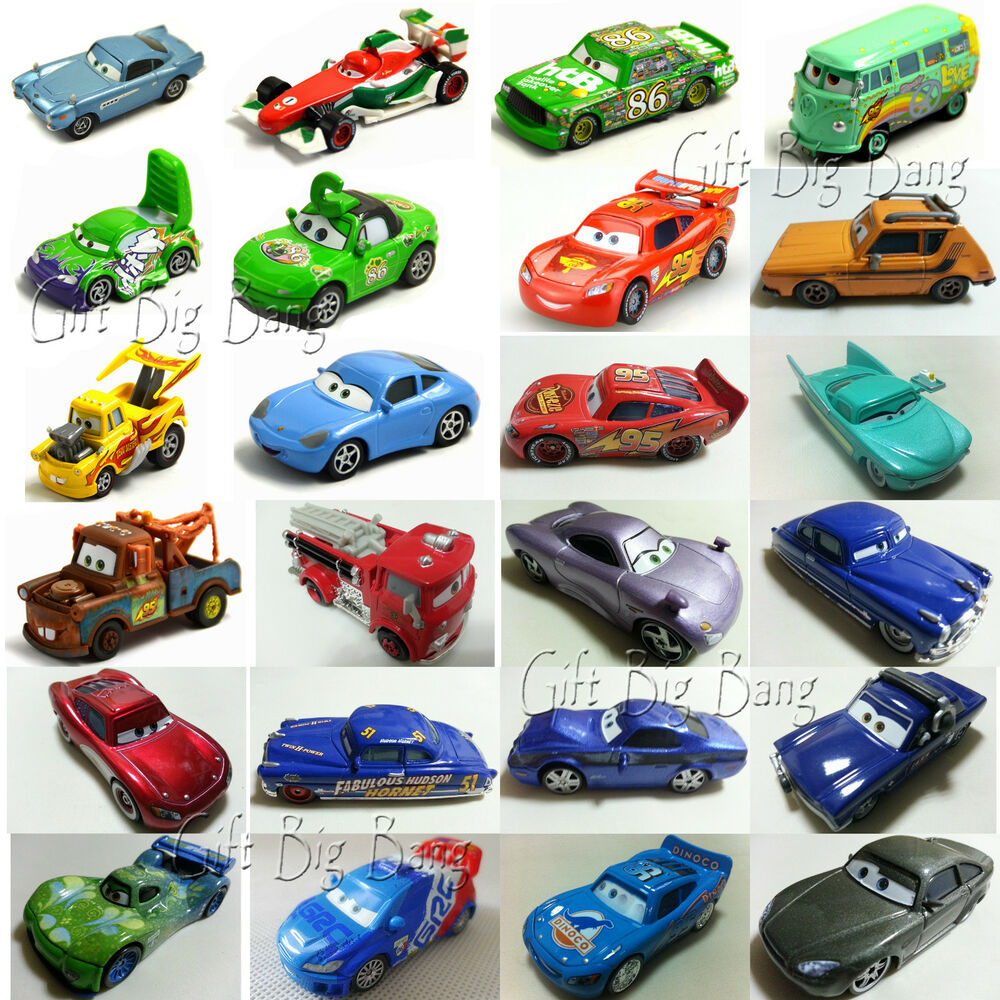 mattel disney pixar cars mcqueen hudson mater fillmore sally sarge 1 55 autos ebay. Black Bedroom Furniture Sets. Home Design Ideas