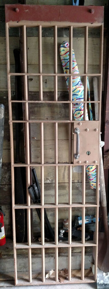 Vintage Police Department Jail Cell Doors With Original