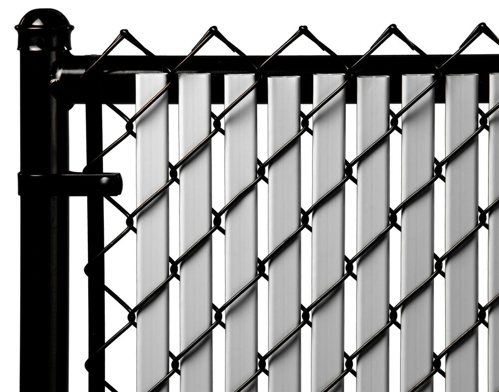 Chain Link Gray Double Wall Tube Privacy Slat For 7ft