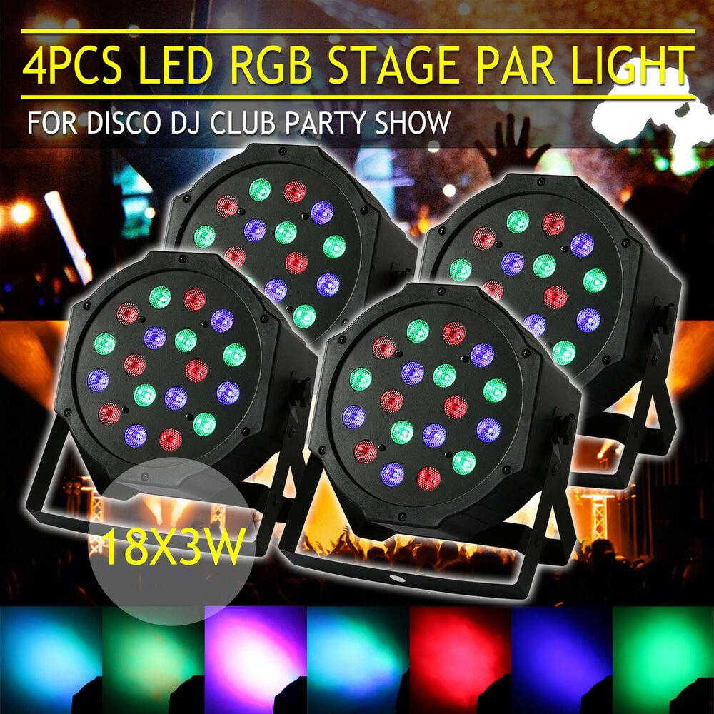 54w rgb led dmx dj disco club stagelampe b hnenbeleuchtung licht strahler effekt ebay. Black Bedroom Furniture Sets. Home Design Ideas