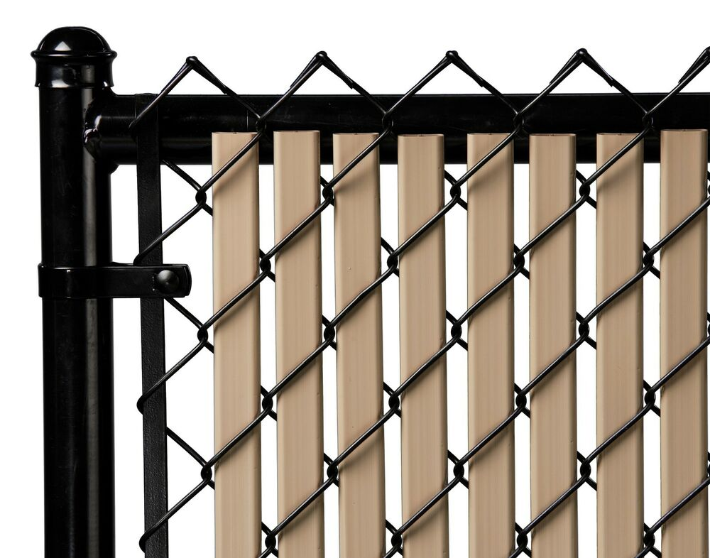 Chain link beige double wall tube™ privacy slat for ft