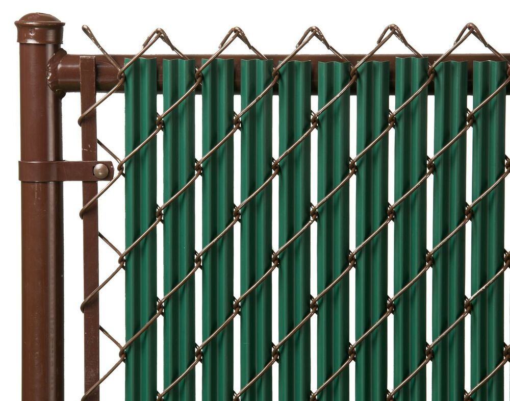 Chain Link Green Single Wall Ridged Privacy Slat For 5ft