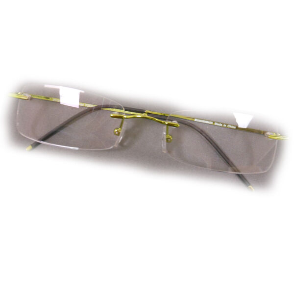 Rimless Rectangle Glasses : +3 Diopter Eschenbach Rimless Reading Glasses - Green ...