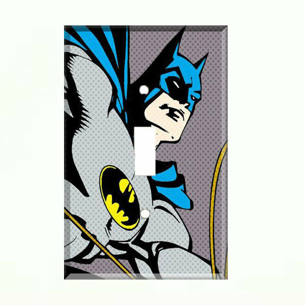 Batman light switch plate wall cover comic decor ebay