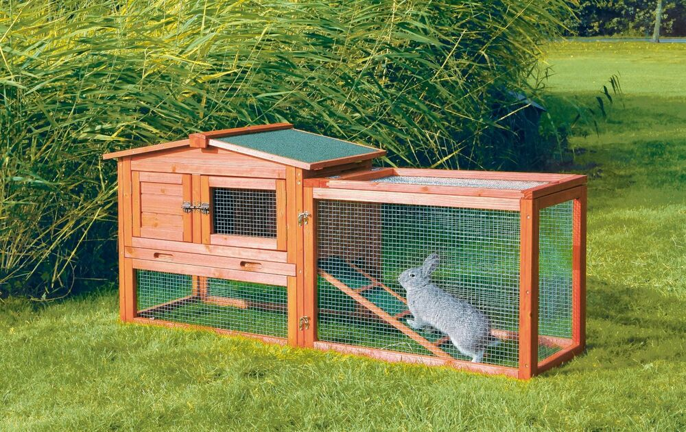 Trixie pet products rabbit hutch w outdoor run x small for Rabbit house images