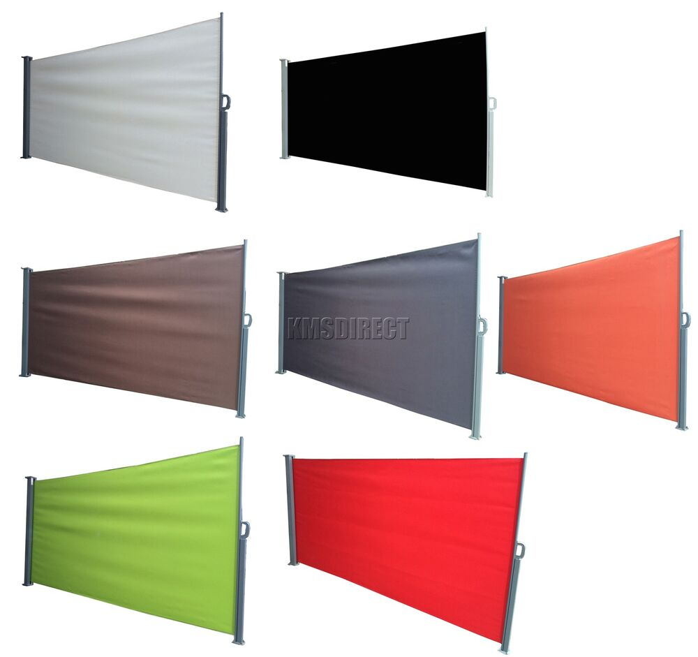 Foxhunter garden patio terrace sunshade blind retractable for Outdoor roll up privacy screens