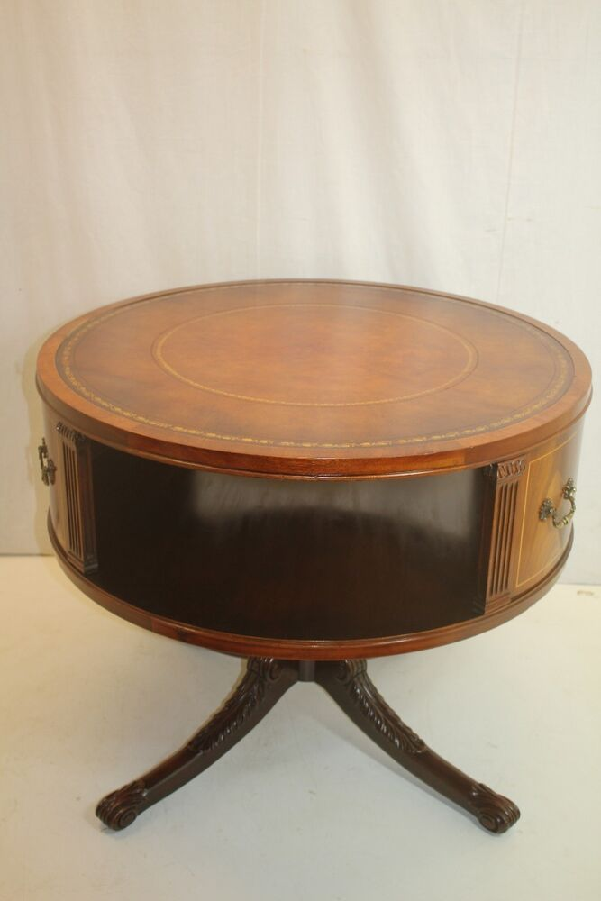 Georgian regency style mahogany revolving top bookcase for Drum side table