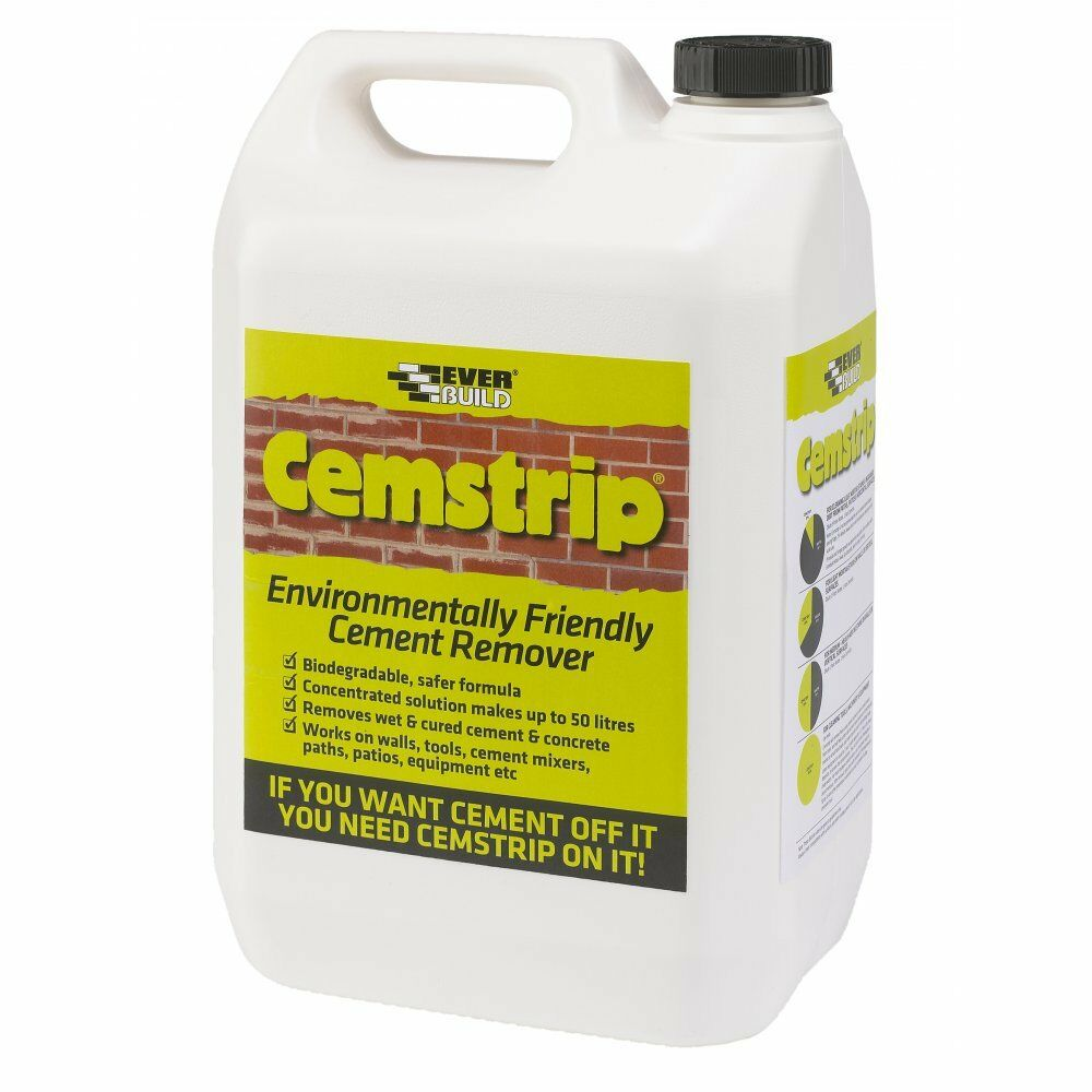 Everbuild cemstrip cement stain mortar remover 1 litre eco for Homemade cement cleaner