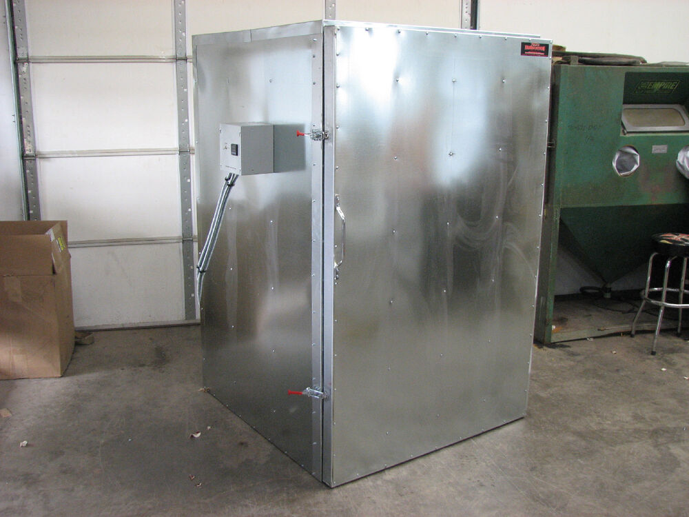 Powder coat electric curing oven new flat floor model for Paint curing oven