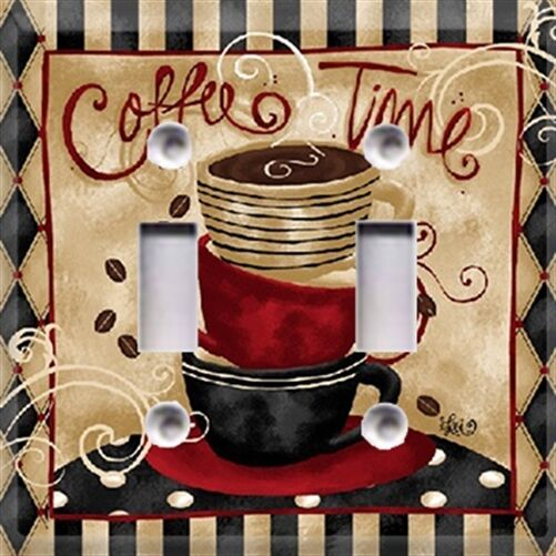 Coffee Time Light Switch Cover Kitchen Decor Choose Your