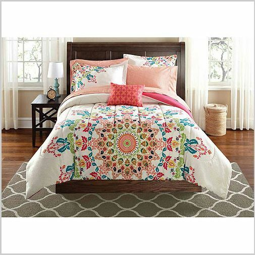 twin xl bedding 6pc comforter set college girl white color spain style medallion ebay. Black Bedroom Furniture Sets. Home Design Ideas