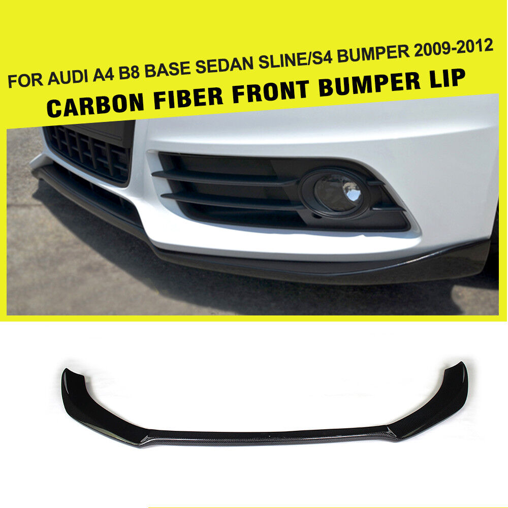 carbon fiber front lip chin spoiler kit fit for audi a4 b8. Black Bedroom Furniture Sets. Home Design Ideas