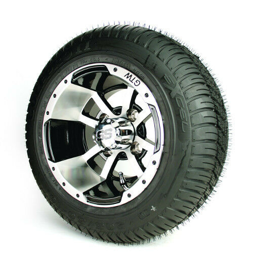golf cart 10x7 storm trooper wheels 18 low profile tires set of 4 ebay. Black Bedroom Furniture Sets. Home Design Ideas