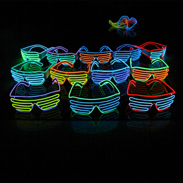 shutter shades new sound activated led flashing glasses