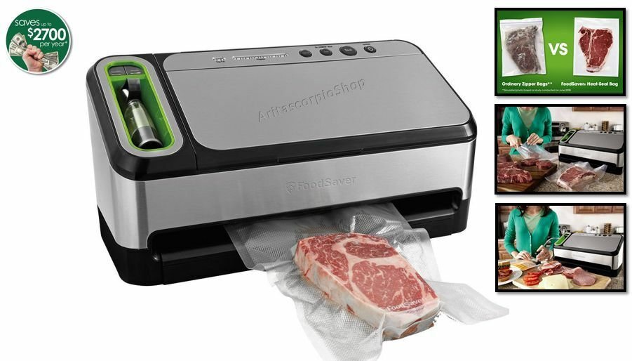 Vacuum sealers, especially handheld models, are compact and consume little countertop or storage space. Vacuum sealer bags take up less space than other storage options such as tins and tubs. Use vacuum sealers from Sears to help utilize storage space in the refrigerator, freezer and pantry.