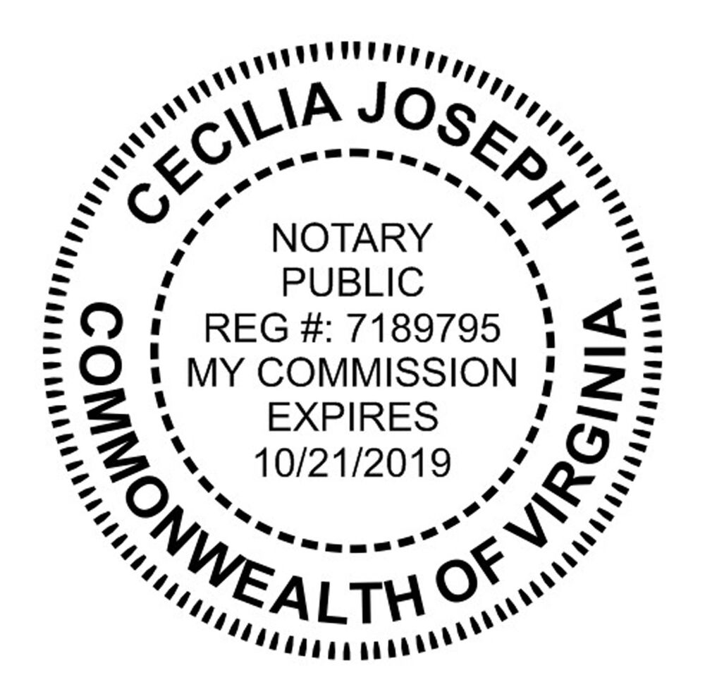 NEW ImprueMark Customized ROUND Official NOTARY Self-Inking Rubber