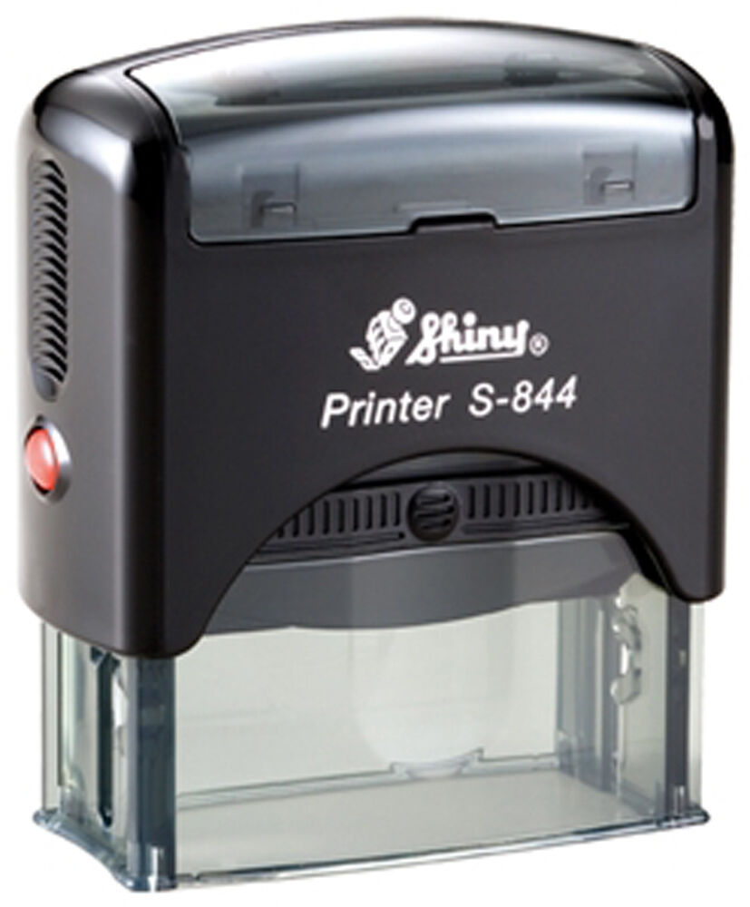 Custom 5 Line Text Address Shiny Printer S 844 Office