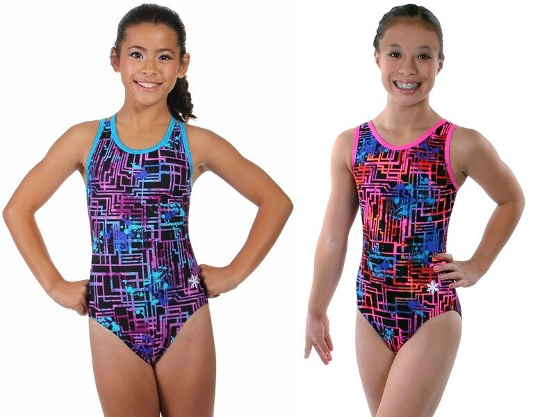 NEW!! Blue or Pink Circuitry Gymnastics Leotard by ...