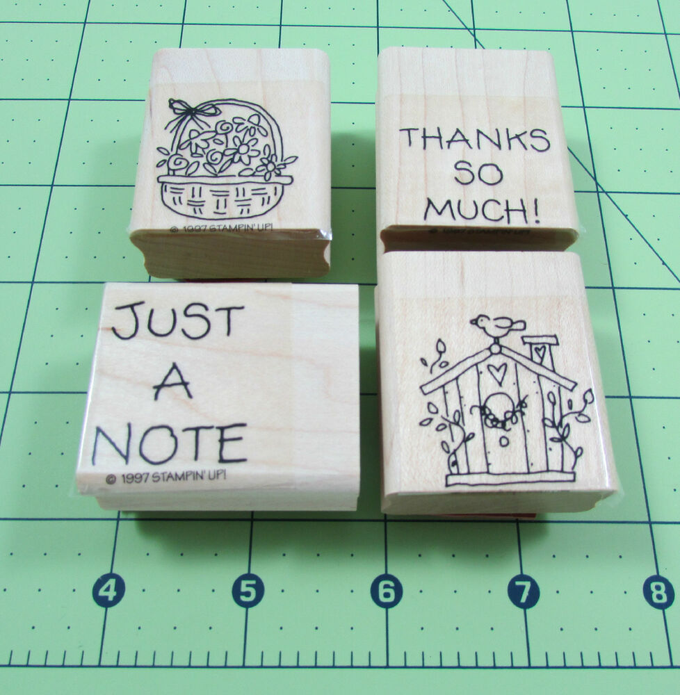 Stampin Up Just A Note Mini Stamp Set Of 4 Thank You
