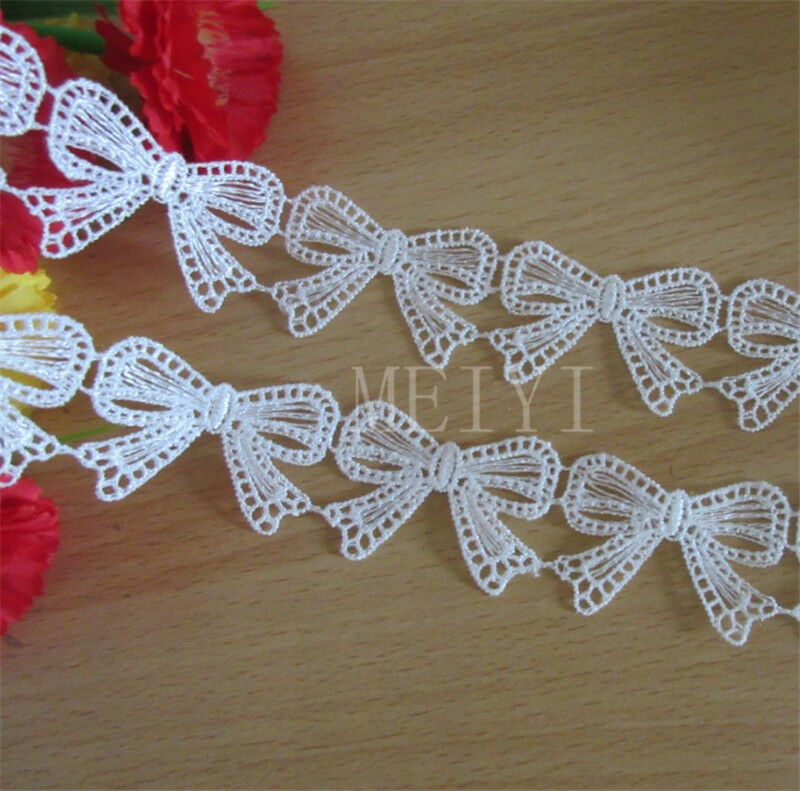 Vintage white lace trim bridal wedding ribbon decor for Craft ribbons and trims