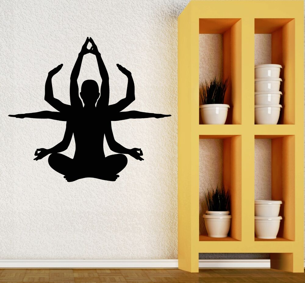 Wall Decal Yoga Buddhism Meditation Mantra Vinyl Stickers