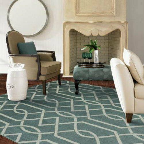 NEW BEIGE Teal BLUE GOLD NAVY AREA RUG Abstract Geometric