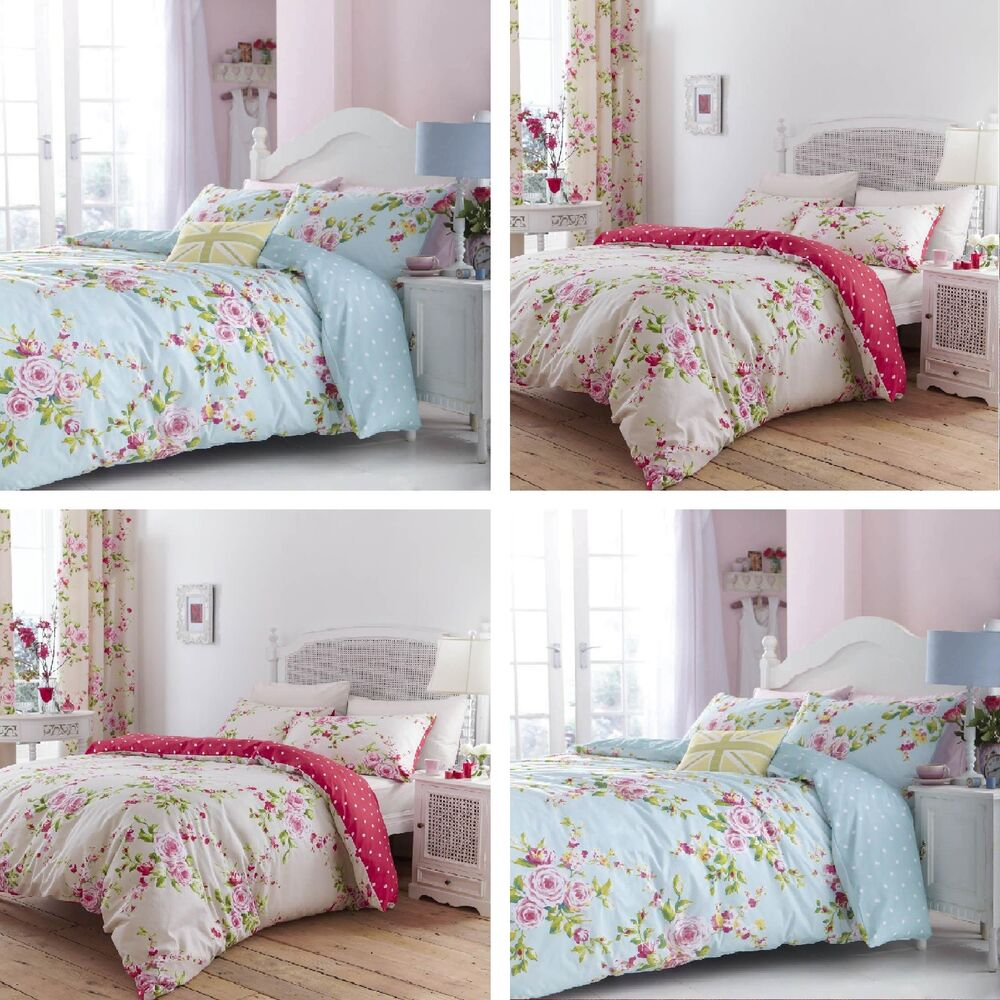 Catherine Lansfield Kids Girls Boys Tape Top Pair Fully: Catherine Lansfield Canterbury Floral Cotton Rich Bedding