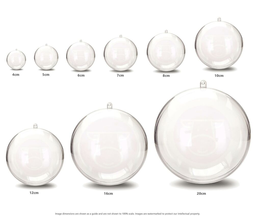 Jfm All Sizes Clear Plastic Craft Ball Acrylic Transparent