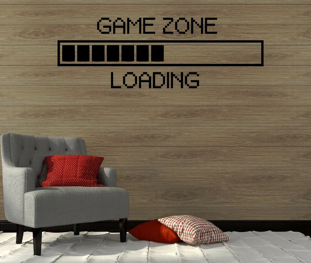 Game Room Wall Art: Wall Decal Game Zone Play Room Gamer Video Game Boy Art