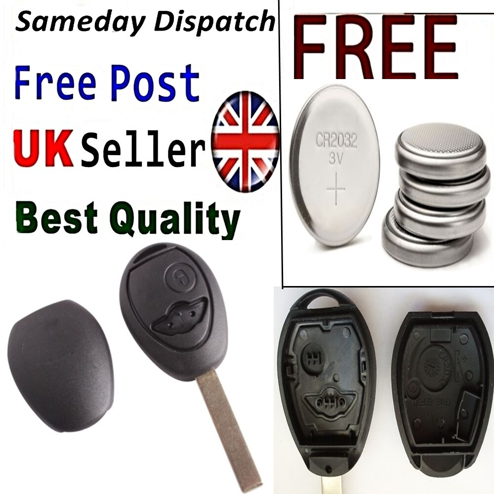2 button key remote fob case shell for bmw mini cooper r53 r50 replacement ebay. Black Bedroom Furniture Sets. Home Design Ideas