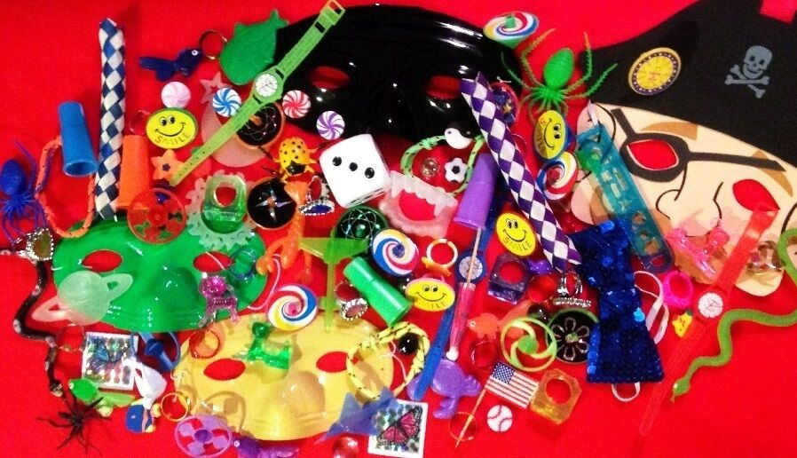 Lot of 300 kids novelty trinkets children toy giveaway for Novelty children s fabric
