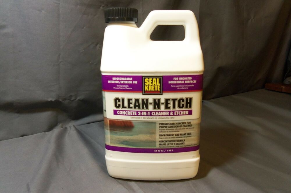 Seal krete clean n etch concrete cleaner and etcher for Best degreaser for concrete