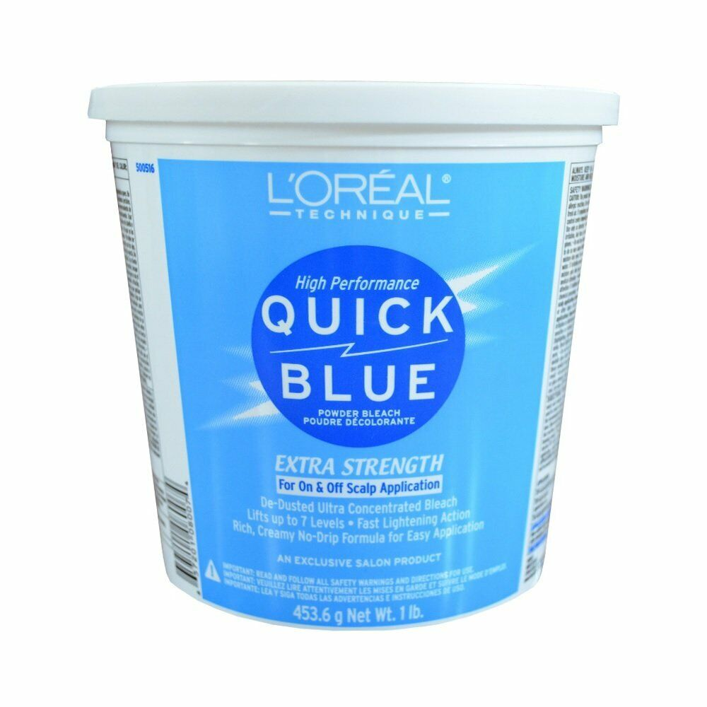 L39OREAL Salon Quick Blue Extra Strength Powder Hair Bleach 1 Lb HC08007