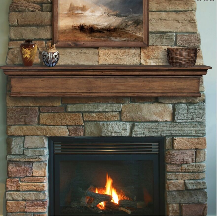 Pearl Mantel Savannah pine fireplace mantel or TV shelf ...
