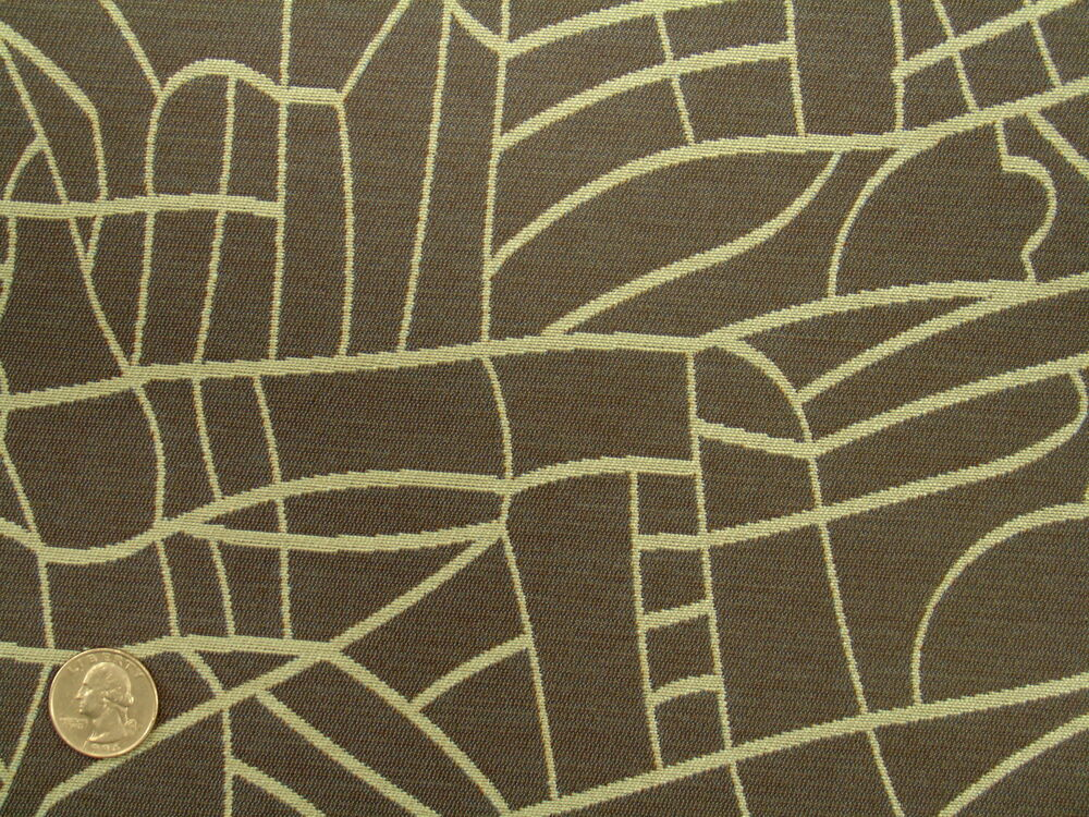 Woven contemporary abstract funky modern geometric slate gray upholstery fabric ebay - Wandspiegel groay modern ...