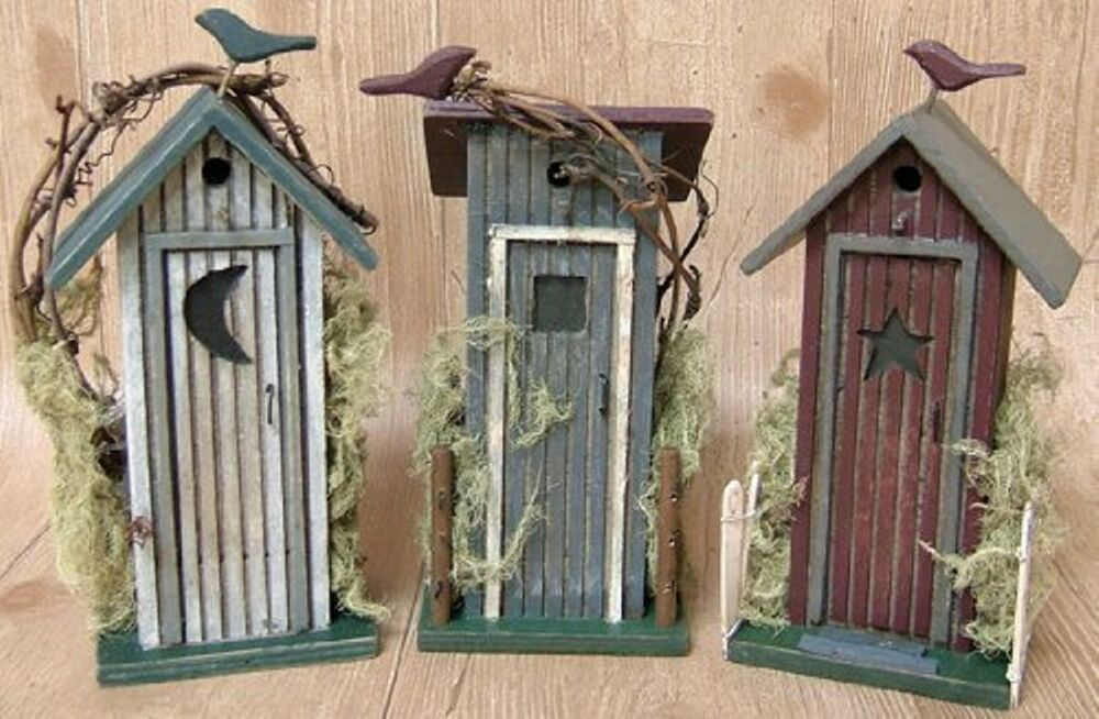 Primitive Bathroom Decor Rustic Outhouse Country Log Cabin Style Decor