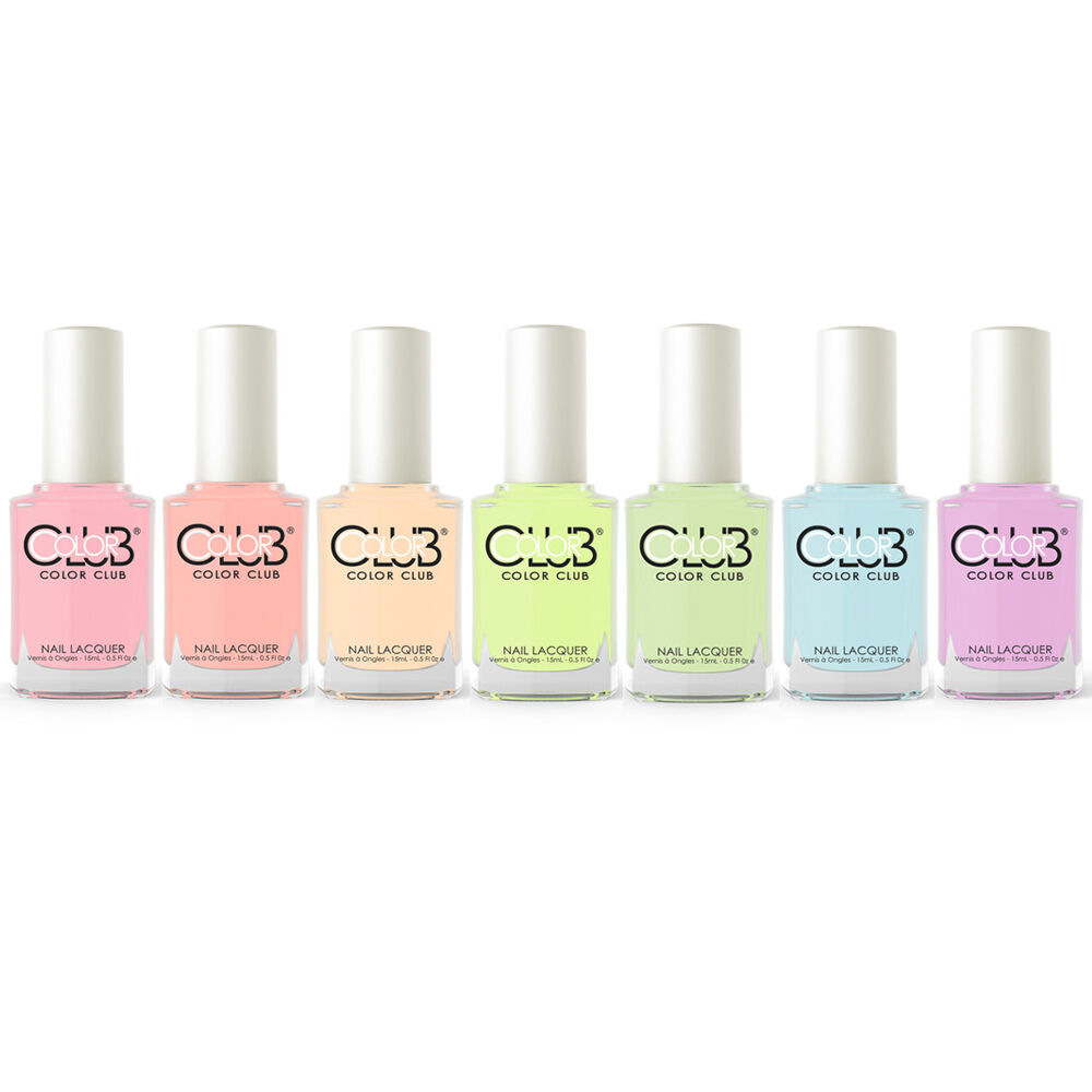 Color Club Poptastic Pastel Neon Collection Nail Lacquer